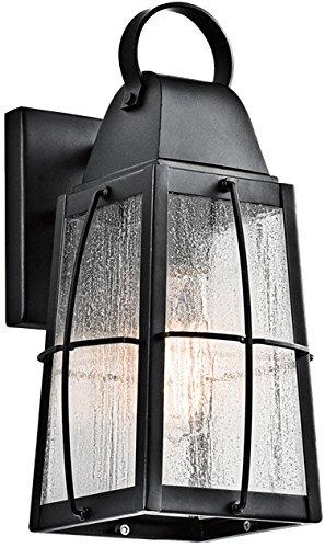 Kichler 49552BKT Tolerand Outdoor Wall Sconce, 1 Light Incandescent 75 Watts, Textured Black