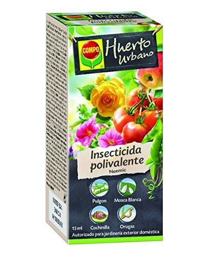Compo Neemic Insecticida Polivalente, para Plantas Ornamentales, frutales y hortícolas, Control de plagas, jardinería Exterior doméstica, Apto para Agricultura ecológica, Monodosis, 15 ml