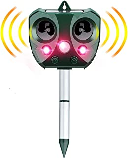 ANEAR Cat Repellent,Solar Ultrasonic Animal Cat Repeller with Motion Sensor,IP65 Waterproof USB/Battery Operated Animal Sc...