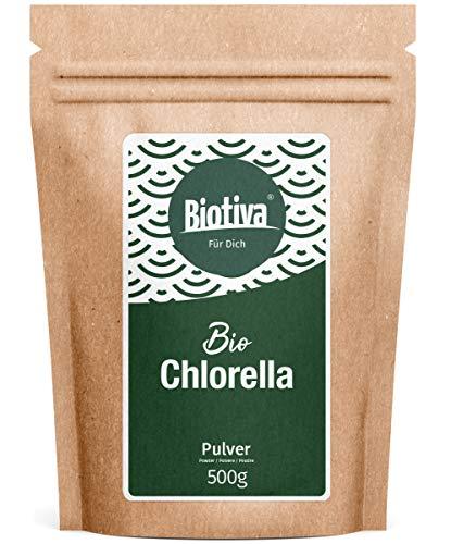 Chlorella Pulver Bio 500g - Chlorella Vulgaris - Algen - Abgefüllt und kontrolliert in Deutschland (DE-Öko-005)