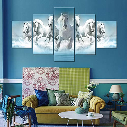 WEDSA Mural Canvas Painting Poster Home decorationCanvas Painting Shark Wall Art 5 PCS Picture Canvas Prints Modern Wall Pictures Home Decor 30x40cmx2 30x60cmx2 30x80cmx1 No Frame