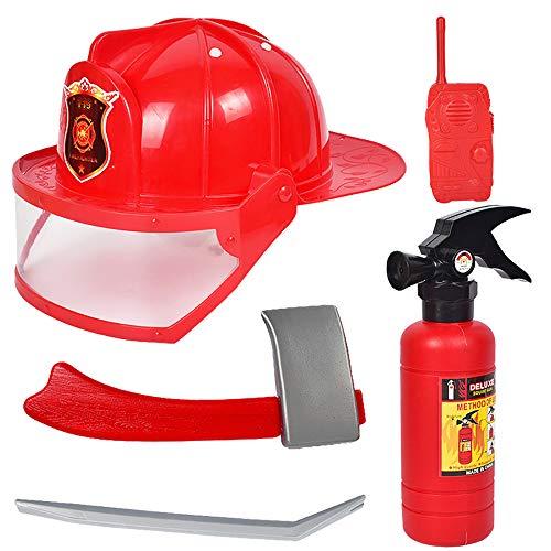 Isuper 5- Teiliges Feuerwehrmann Rucksack Feueranzug Werkzeug Feuerlöscher Helm...