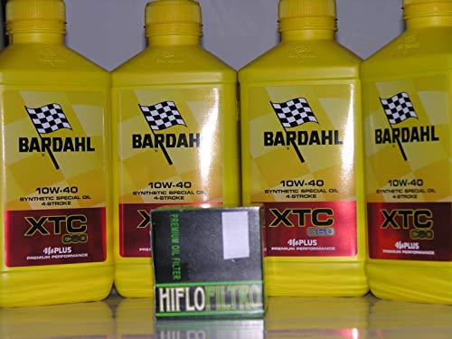 4 LT OLIO motore 4t BARDAHL BARDHAL XTC C60 10W40 + FILTRO OLIO