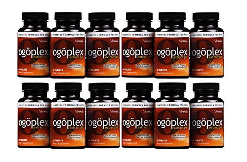 Ogoplex® | Male Prostate Health and Urinary Support Supplement with Graminex® Swedish Flower Pollen, Saw Palmetto, Phytosterols & Lycopene - 1 Month Supply (12 Pack)