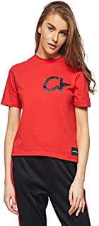 Calvin Klein T-Shirts For Women, Red, Size XL