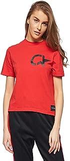 Calvin Klein Women's 2724701606-Red T-Shirts
