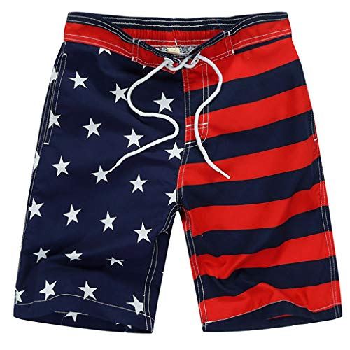 N\A Pantalones cortos de playa con cordón para niños y niñas