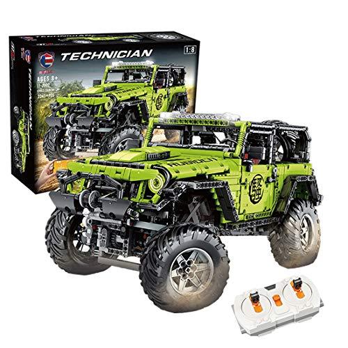 KEEPH Technik 4x4 Geländewagen Ferngesteuert 1:8 Bausteine Geländewagen Off-Roader Spielzeug mit Licht, 2343 Teile