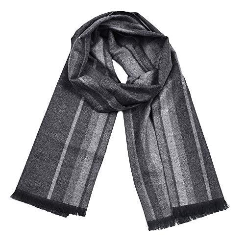 Dhmm123 Bufandas cálidas Hombres Moda Ligero algodón sensación Invierno cálido Bufanda (Color : Red, Size : OneSize)