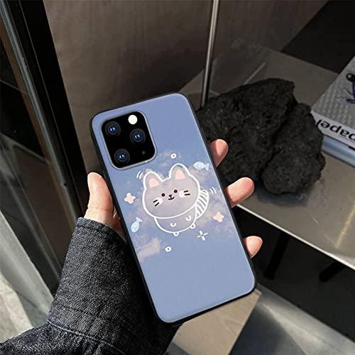 Simple lindo dibujos animados nubes teléfono casos para iphone 6 6s 7 8plus x xr 11 12 mini pro max nax fundas cover-a1-para iphone 12 12pro