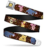 Buckle-Down Seatbelt Belt - Winnie the Pooh Character Poses - 1.0' Wide - 20-36 Inches in Length