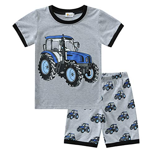 Jungen Schlafanzug Kurzarm Kinder Junge Raumfahrt Auto Bagger Dinosaurier Kleinkind Pyjamas Nachtwäsche Zweiteiliger Schlafanzug 92 98 104 110 116 122