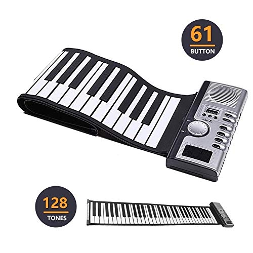 Great Price! Portable Piano 61 Keys 128 Tones Electronic Pianos Keyboard Professional Smart Folding ...