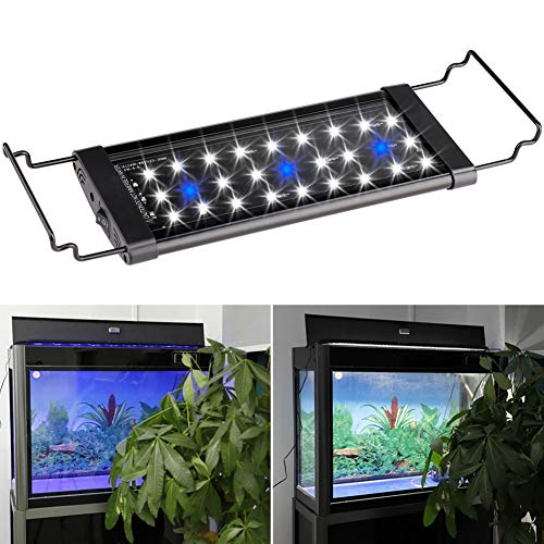 WhYlzh aquariumverlichting 30 cm 45 cm 60 cm aquarium spectrum licht compleet voor zoetwatervis personenauto's planten waterdicht aansluiting marine aquarium licht