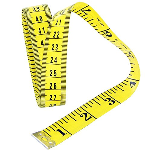 Da.Wa Maßband 300cm / 118 inch Tape Measure Gelb Craft Tailor Flexible Maßband Profi Glasfiber Nähen Maßbänder
