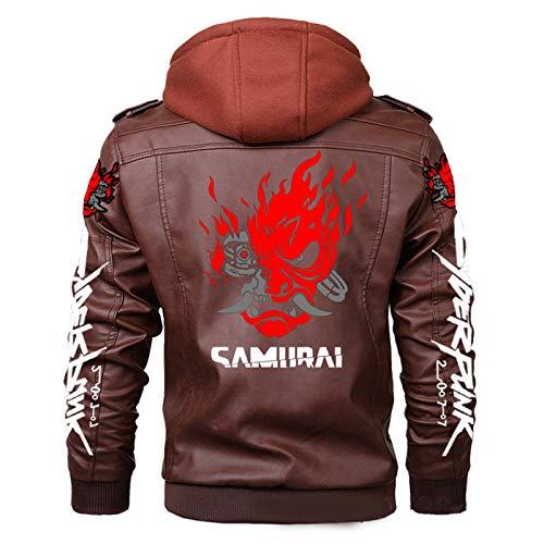 RWF Cyberpunk 2077 Samurai Band Jacket Jacket, Giacca Casual dal Design Staccabile, Giacca da Gioco Samurai Jacket (borwn, L)