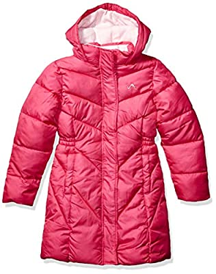Vertical '9 Girls' Toddler Bubble Jacket (More Styles Available), Medium Length Puffer Fuchsia, 4T