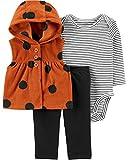 Carter's Baby Girls' Vest Sets (6 Months, Brown/Black)