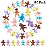180 Stücke Mini Kunststoff Babys 1 Zoll Mischfarben Kunststoff Baby Puppen für Baby Dusche Party...