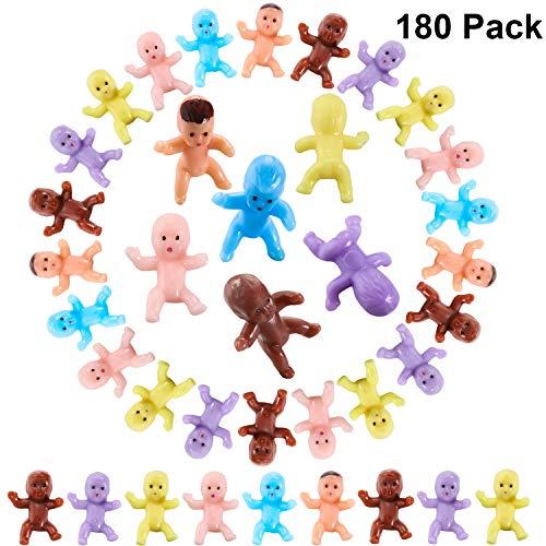180 Stücke Mini Kunststoff Babys 1 Zoll Mischfarben Kunststoff Baby Puppen für Baby Dusche Party Gefallen Lieferung Eiswürfel Spiel Baby Voll Mond Geschenke
