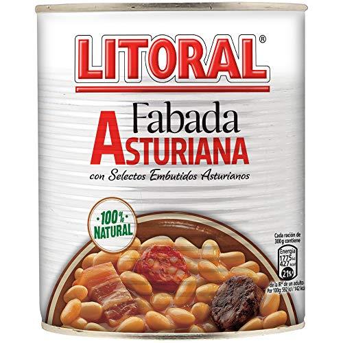 LITORAL Fabada Asturiana - Plato Preparado de Fabada Asturiana Sin Gluten - 865g