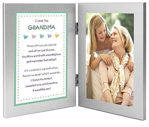 Großmutter Geschenk von Enkelkind–Sweet Gedicht für Oma in Doppel-Rahmen–hinzufügen Foto