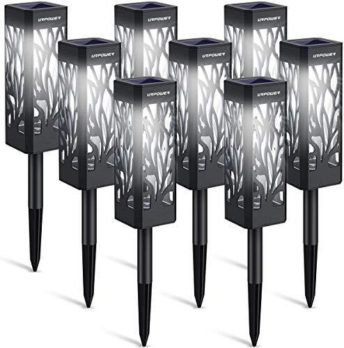 Lot de 6 lampes de jardin à énergie solaire à LED - Éclairage de jardin solaire - Étanche - IP65 - Lumière blanche