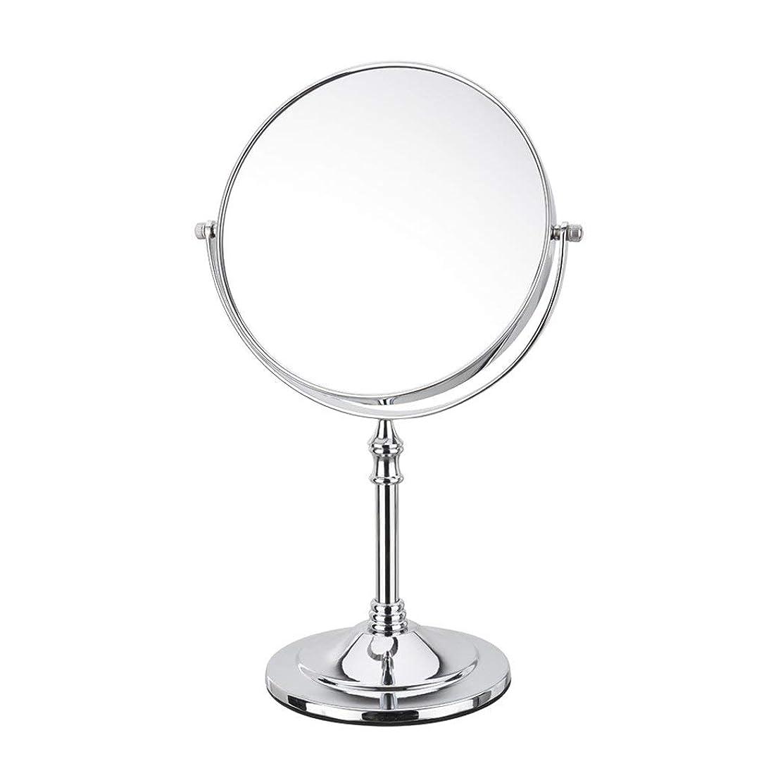 仕様百科事典悪意のある化粧鏡円形両面3倍拡大化粧鏡360°回転卓上ミラー旅行シェービングミラーシルバー