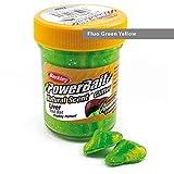 BerkleyPowerbait Dough Natural Scent Liver Fluo Green Yellow