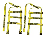 RuggedTow 2X USA Car Basket Straps Adjustable Tow Dolly DEMCO Wheel Net Set Flat Hook Standard Wheels Fits (14-20 Inches, Yellow) Domestic