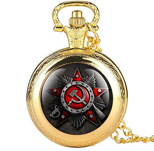Aluyouqi Co.,ltd Reloj de Bolsillo de Cuarzo de Cara Abierta de Color Negro, Colgante de Relojes para Hombre con Colgante, Collar con números Romanos, Reloj Masculino, Regalos