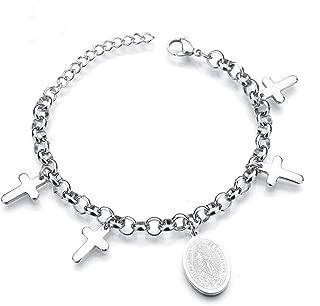 Religious Cross Bracelet, Silver Plated in Good Faith Bracelet Christian Infinity Classic Bracelet Baptism Gift for Teen Girls Jewelry for Women