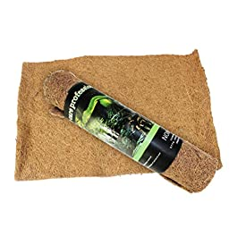 POPETPOP 1pc 100x40cm Natural Coconut Fiber Mat Substrate Bricks Terrarium Liner Mat Carpet for Lizards Iguanas Anoles