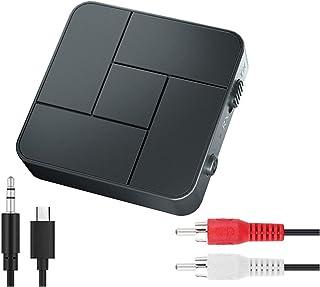 سيارة 2 قطع بلوتوث 5.0 استقبال الارسال 3.5mm AUX جاك RCA USB. محولات الصوت اللاسلكي يدوي مكالمة ميكروفون لتلفزيون السيارات...