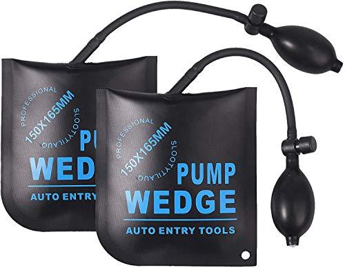Shineus Luftkeil-Pumpenkeil, 2 Stück Luftpumpe, Keil Up Bag mit einem Keilausrichtungs-Werkzeug für Zuhause, Türfenster-Installation und Auto-