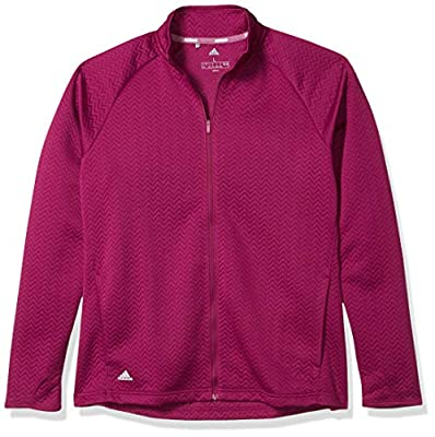 adidas Golf Textured Layer Jacket, Power Berry, Large
