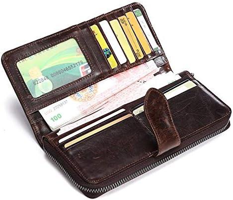 Mubolin Vintage Genuine Leather Zip Sale SALE% OFF Long Slim Wallets Around Bif Purchase