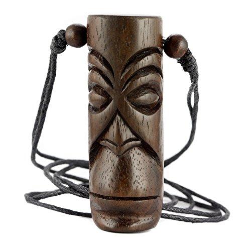 ISLAND PIERCINGS Halskette Amulett Anhänger Maori Design aus Holz längnverstellbar N297