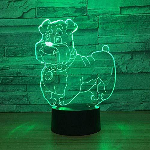 Luz De Noche, Lámpara De Mesa, Perro Lindo, Lámpara Led 3D, Luz De Noche, Multicolor, Bombilla Rgbw, Luminaria Decorativa, Regalo De Cumpleaños Para Amigos, Niños, Rápido