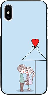 iPhone 12 mini ブラック ケース 薄型 スマホケース スマホカバー sc210(E) 相合傘 ハート ラブ キス チュウ チュー アイフォン12ミニ アイフォントゥエルブミニ スマートフォン スマートホン 携帯 ケース アイホン1...