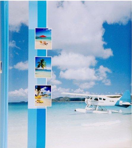 Quantio HENZO Jumbo Fotoalbum Flugzeug - 100 Seiten für bis zu 600 Fotos - Bilderalbum - Jumboalbum - Album - Urlausalbum