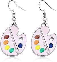 colorful earrings movie lover earrings. Pop art soutache earrings