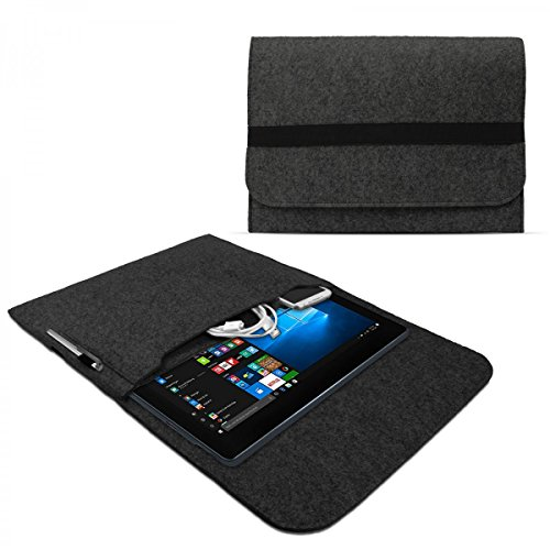 eFabrik Sleeve Cover für Medion Akoya P3401T Schutztasche (passend Notebook inkl. Tastatur) Hülle Tasche Ultrabook Laptop Cover Hülle Filz dunkel grau