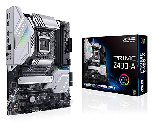 ASUS Prime Z490-A LGA 1200 (Intel 10th Gen) ATX Motherboard (14 DrMOS Power Stufen, Dual M.2, Intel® 2,5 GB Ethernet, USB 3.2 Front Panel Type-C, ThunderboltTM 3 Unterstützung, Aura Sync RGB)