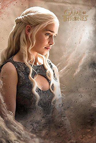 Game of Thrones Poster Staffel 6 Daenarys (61cm x 91,5cm) + 2 St. Schwarze Posterleisten mit Aufhängung