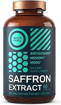 60-Count Wild Fuel Saffron Extract Supplement Vegan Capsules