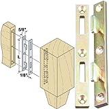 Platte River 130607,'Hardware, Furniture, Bed Hardware', 5 in Bed Rail Fasteners-Ylo Zinc, 4-Pack