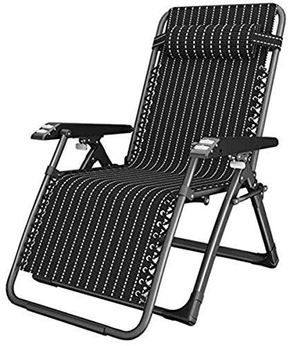 Chaise Transats dans Le Jardin et OutdoorsPatio Loungers Pliant Camping Recliner Lawn Chair Bureau de Plage Portable Black Supports