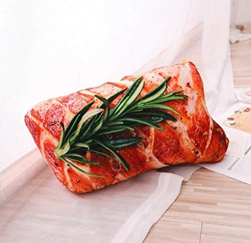 BBSJX Simulation Grill Plüsch Kissen Weiche Cartoon Tier Karotte Hähnchenschenkel Tofu Abalone Steak Gefüllte Puppe Sofa Spielzeug 50X30 cm