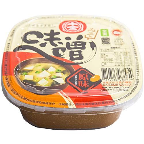 Miso de Soja 500gr - Sans OGM | Origine Taiwan | Pâte de Miso pour Soupe